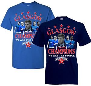Glasgow Champions Of Scotland 55 T.shirt For Rangers Fans - Size Kids to 5XL