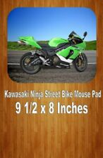 Green Kawasaki Ninja Sport Bike Mouse Pad Home Or Office