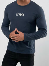 Emporio Armani Mens Navy Blue Long sleeve E.A. T shirt Size M, L, XL