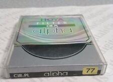 Genuine Hoya Alpha 77mm Circular Polarizer CPL Lens Filter 77 mm C-ALP77CRPL