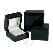Ring Box Wooden Luxury Black High Gloss Finished Ring Box