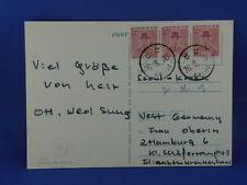 KOREA OLD POSTCARD 1976 BULGUG SA TEMPLE to GERMANY   (G3/21)