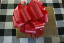 """25-5.5""""-Christmas Red Pull Bows~Red Ribbon - 25ct- 20 Loop"""