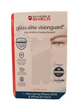 ZAGG Glass Elite VisionGuard Screen Protector for iPhone SE 2020 8 7 6s 6