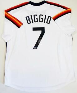 Craig Biggio Autographed Houston Astros Rainbow Sleeves Jersey - TriStar Auth *7