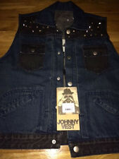 One Teaspoon Studded eagle Johnny Denim Vest Size XL  NWT