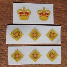 Eight British Army Officer Rank Lieutenant Captain Major Colonel Vinyl Sticker