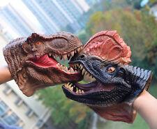 Dinosaur Toys T-Rex + Dilophosaurus Head Gloves Hand Puppets Kids Role Play Gift