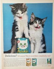 Lot of 3 Vintage 1963Friskies Cat Food Food Print Ads Deep Sea Flavor