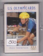 (500) 1992 US OLYMPIC HOPEFULS INGA THOMPSON CARDS #34 ~ GIANT LOT ~ CYCLING