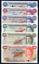 Bermuda 1978-1984, 1 - 100 Dollars Specimen Set ( 6Pieces ), CS1, All UNC