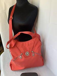 Baggallini Shoulder Bag Large Crossbody Coral Travel Tablet Organizer Tote