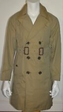 NWT BURBERRY $1595 MENS DOUBLE BREASTED TRENCH COAT JACKET WITH WARMER SMALL
