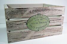 Wooden Crate Distressed Gray Lynx De Pologne Prix D'Honneur Home Decor