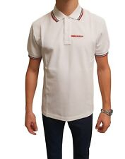 PRADA Men's Polo Shirt 100% Cotton White Short Sleeve New Wth Tag For Men