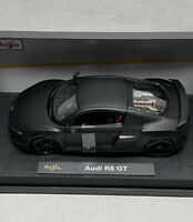 Maisto Premiere Edition 1:18 Scale Audi R8 GT In Matt Black Diecast Model Car