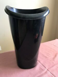 Trash Can Black Plastic Office Rubbish Can