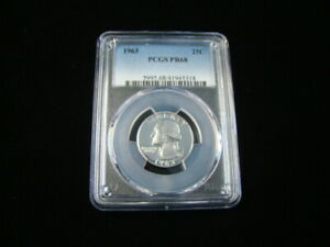 1963 Washington Silver Quarter PCGS Graded PR68 #41945318