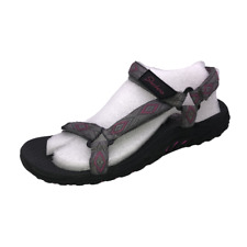 Skechers Womens Size 10 Gray Black Reggae Decked Out Outdoor Sandals Shoes New