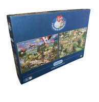 Gibsons I Love The Country and I Love Gardening Jigsaw Puzzle - 2 x 500 pieces