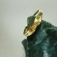 Ring Damenring 52 (16,5 mm Ø) 333/8k Gold mit Diamant 0,005ct