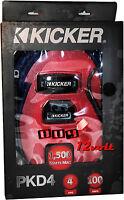 Kicker PKD4 4-Gauge 2-Channel P-Series Dual Amp Power Wiring Kit 1500W Max