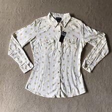 Wrangler Retro Womens Top Long Sleeve Pearl Button Cactus Print Size Small Nwt
