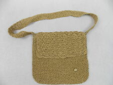 Etienne Aigner Natural Straw Handbag Purse Shoulder Bag