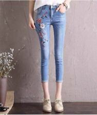 SKINNY JEANS WITH EMBROIDERED size 2XL