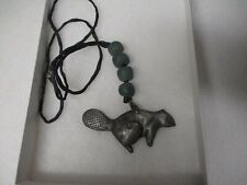 EARLY HUDSON BAY CO. FUR TRADE BEAVER NECKLACE