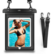 "Black Tablet Waterproof Pouch Underwater Dry Bag Case Cover For 10.2"" Apple iPad"