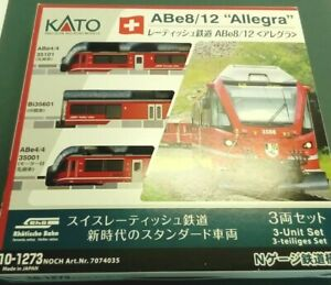 """KATO  ABe8/12 """"Allegra"""" SWISS Livery  in Excellent Boxed Condition FREE POSTAGE"""