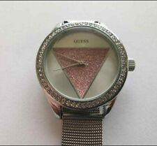 Guess Crystal Silver Dial Ladies Watch