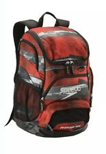 NEW - Speedo Large Teamster Swim Bag Backpack - Setting Sun Red