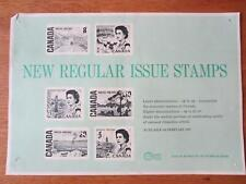 Canada Post Official Stamp Poster 1967 centennial definitives - 330