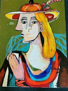 Mladen Novak  Painting on Canvas . 18 x 24  cubist painting