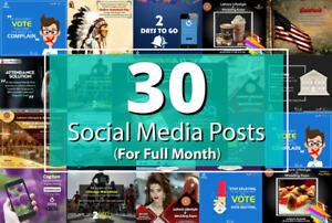 social media management marketing 30 custom  posts  and free scheduler software