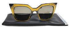 New Fendi Sunglasses Women Cat Eye FF 0060/S Yellow 0MSW NR FF0060/S 52mm