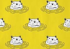 A1| Yellow Cartoon Hippopotamus Poster Size 60 x 90cm Animal Gift #14226
