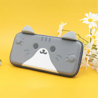 Kawaii Cat Carrying Bag Pouch Case for Nintendo Switch Cute Funny Cat Ears