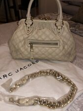 Marc Jacobs Large Beige Ivory Stam Bag 100% Authentic