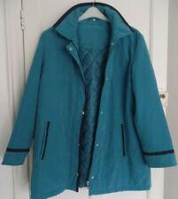 Eleganze Ladies Teal Coat size 18