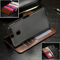 Luxury Leather Wallet Flip Stand Case For Huawei P8 P9 Lite Honor 7 4A Y5 Y6