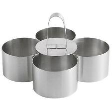 Pro Stainless Steel 4-Piece Food Ring Press Set Cooking Presentation Rosti UK