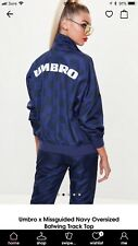 Umbro X Missguided Navy Oversized Batwing Track Top.  Size M