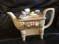 Vintage Baking Day Teapot British Tea Council Collection 1987 Sunshine Ceramics