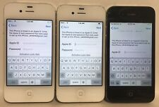Lot of 3 Apple iPhone 4s Black Smartphone A1387 AS IS