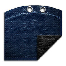 12' Round Above Ground Swimming Pool Winter Cover 8 Year - Navy Blue