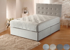 MEMORY FOAM PLUSH DIVAN BED SET WITH MATTRESS AND HEADBOARD 3FT 4FT6 Double 5FT
