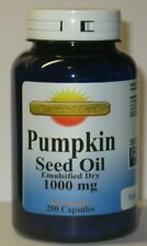 Pumpkin Seed Oil 1000 mg 200 Capsules  -  Prostate Health